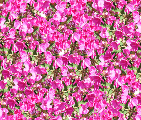 Pink Blossoms fabric by anniedeb on Spoonflower - custom fabric