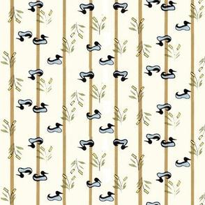 Ducks in the Marsh with Tan Stripe