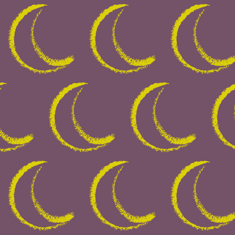 moon of my life fabric by mezzime on Spoonflower - custom fabric