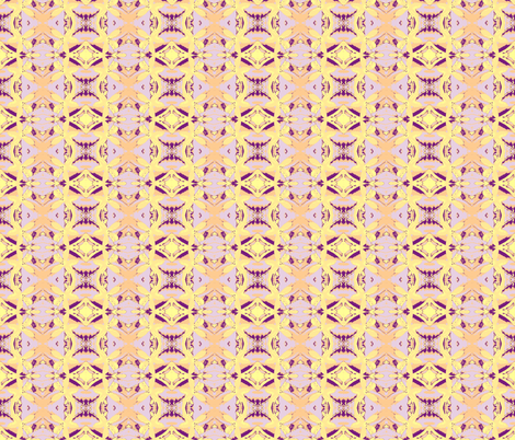 Lemon Blossem lavender garland fabric by walkwithmagistudio on Spoonflower - custom fabric