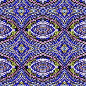 Cascade blue flower motif