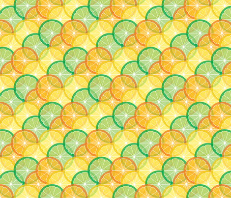 Citrus Medley fabric by jjtrends on Spoonflower - custom fabric