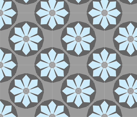 ceiling_flower2 fabric by renateandtheanthouse on Spoonflower - custom fabric