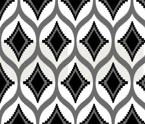 aztec_diamond_black fabric by crisbucknall on Spoonflower - custom fabric