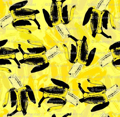 Bananas on bananas yellow