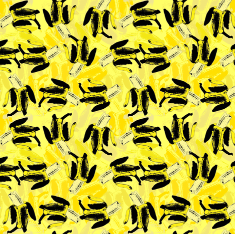 Bananas on bananas yellow fabric by susiprint on Spoonflower - custom fabric