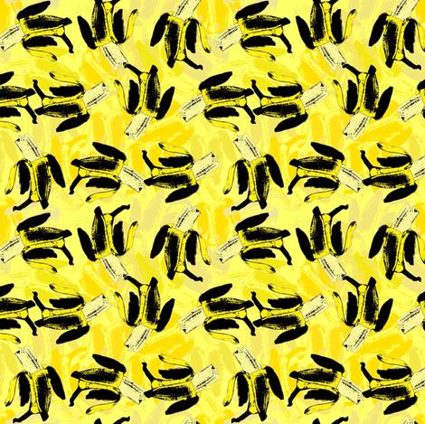Bananas on bananas yellow fabric by susiprint on Spoonflower - custom fabric