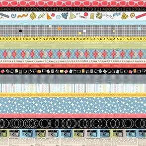 Panchromatic (Mini) || vintage retro cameras typography geometric text stripes stars atomic argyle
