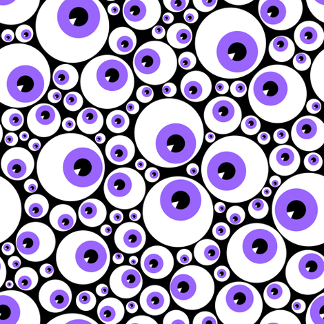 Eyeballs purple fabric by petitspixels on Spoonflower - custom fabric