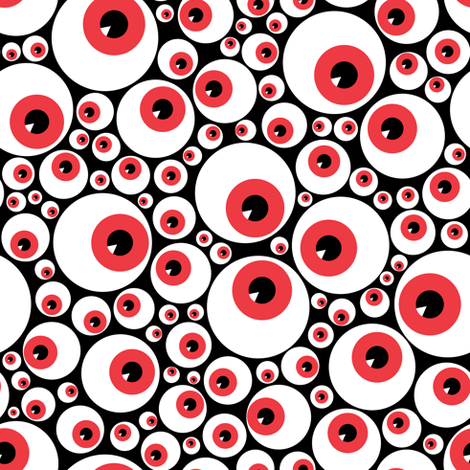 Eyeballs red fabric by petitspixels on Spoonflower - custom fabric