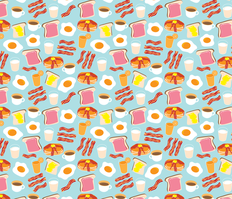 Breakfast Fun fabric by cynthia_arre on Spoonflower - custom fabric