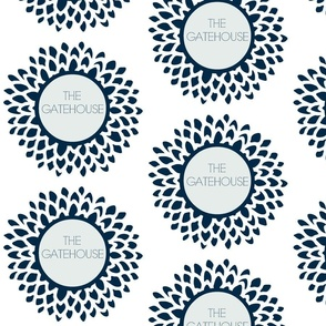 The Gatehouse Bloom in Navy & Ice