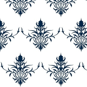 StylizedThistle In navy Blue