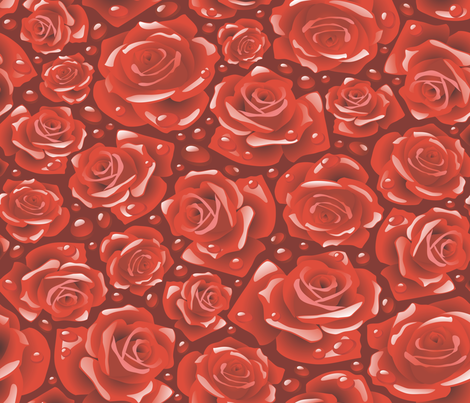 Everthing's Coming Up Roses fabric by implexity on Spoonflower - custom fabric