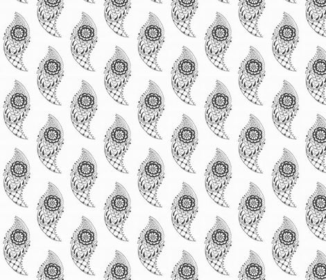 Henna fabric by mezzime on Spoonflower - custom fabric
