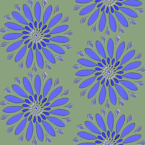 Cornflower fabric by ravynscache on Spoonflower - custom fabric