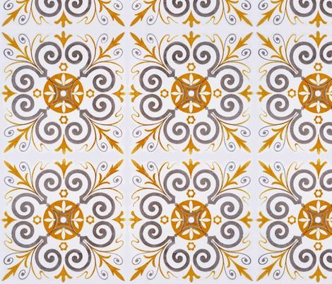 Tile fabric by mezzime on Spoonflower - custom fabric