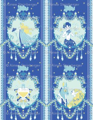 Cupid Painted Blind (Blue)