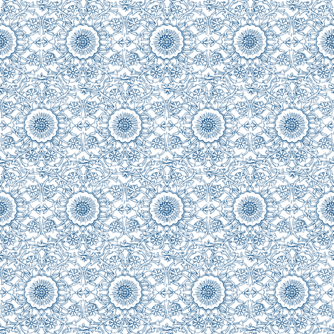 Simla Blue fabric by amyvail on Spoonflower - custom fabric