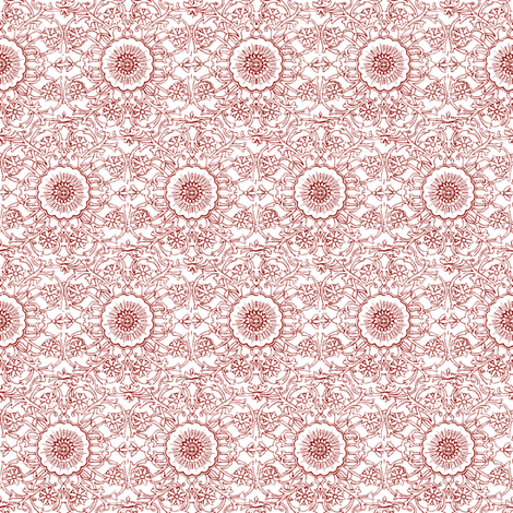Simla Red fabric by amyvail on Spoonflower - custom fabric