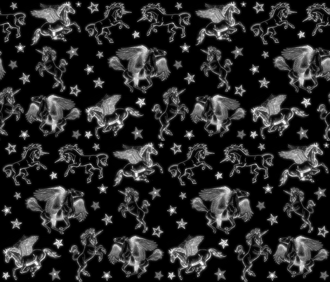 MAGICAL HORSES fabric by bluevelvet on Spoonflower - custom fabric