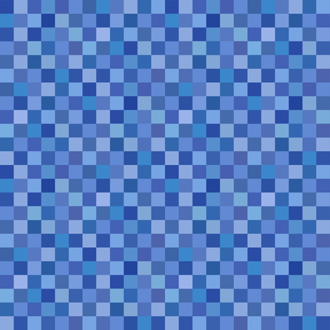 blue squares fabric by weavingmajor on Spoonflower - custom fabric