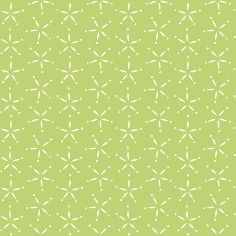 Stary - Green &  ivory fabric by jillbyers on Spoonflower - custom fabric