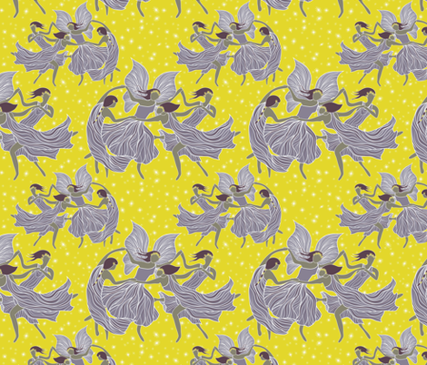 Fairy Ring fabric by vo_aka_virginiao on Spoonflower - custom fabric