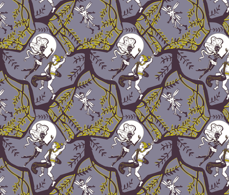 Ill Met by Moonlight fabric by jokers_r_wild on Spoonflower - custom fabric