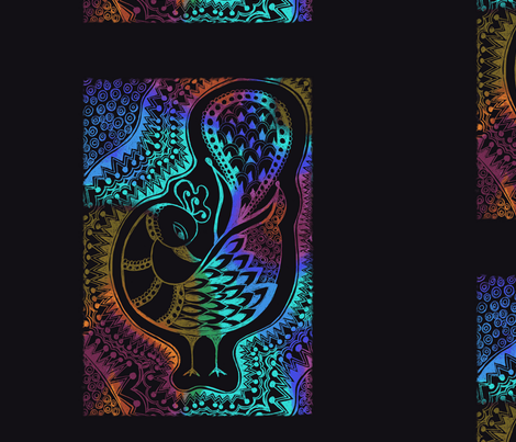 Peacock of Fall fabric by joonmoon on Spoonflower - custom fabric