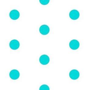 Lemon Blue-Aqua Big Polka Dot
