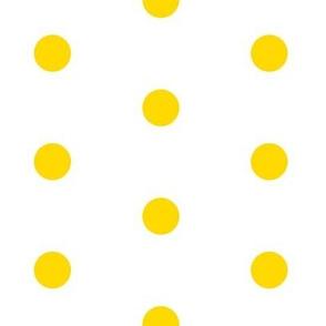 Lemon Yellow Big Polka Dot