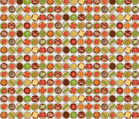 burgers fabric by jenr8 on Spoonflower - custom fabric