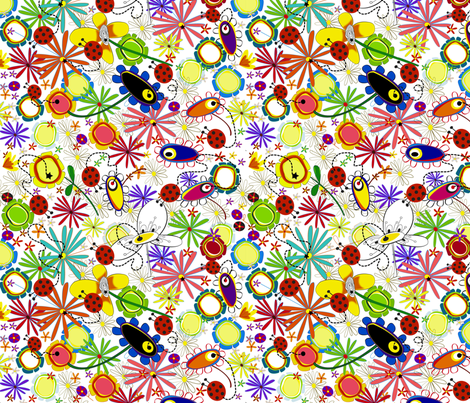 FLORS_I_MARIETES fabric by inkalily_fabrics on Spoonflower - custom fabric