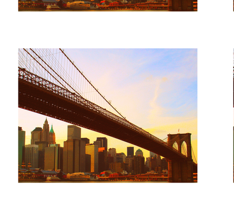 New York City Bridge fabric by mikep on Spoonflower - custom fabric