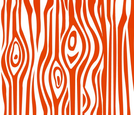 Mod Grain - Orange fabric by thirdhalfstudios on Spoonflower - custom fabric