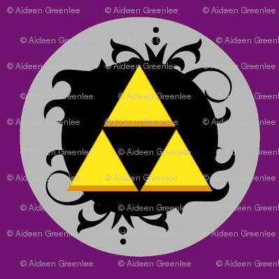 Ornate triforce Purple