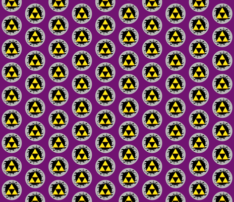 Ornate triforce Purple fabric by occiferbetty on Spoonflower - custom fabric