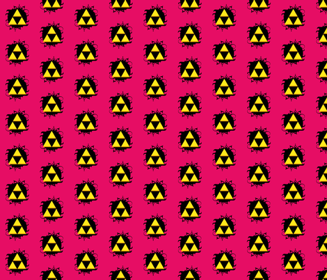 Ornate triforce Pink-ch fabric by occiferbetty on Spoonflower - custom fabric