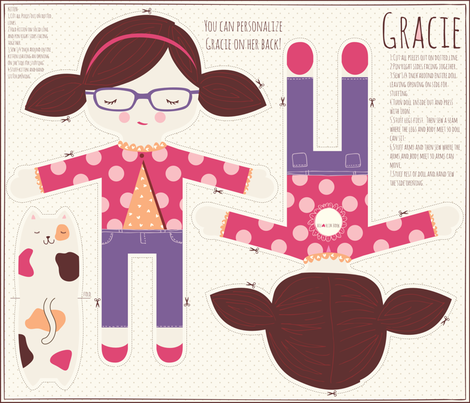 GRACIE fabric by stacyiesthsu on Spoonflower - custom fabric