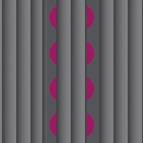Gray Pleats (Vertical) with Sliced Cranberries