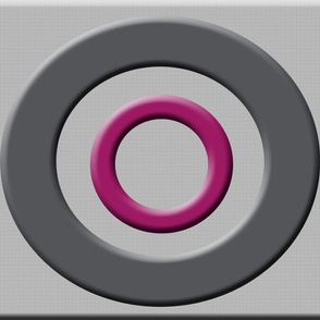 Beveled Circles on Textured Gray