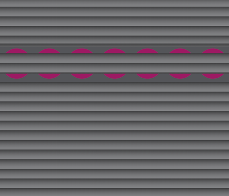 Gray Pleats (Horizontal) with Cranberry Halves fabric by anniedeb on Spoonflower - custom fabric