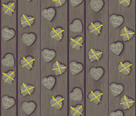 True Tree Love spoonflower0197 fabric by eclectic_house on Spoonflower - custom fabric