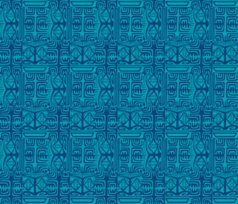 Kon Klassic in two tone blue fabric by sophista-tiki_by_dawn_frasier on Spoonflower - custom fabric