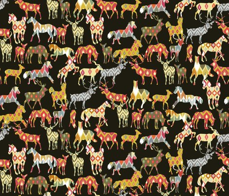 Rrrrrrdeer_horse_ikat_party_sharon_turner_spoonflower_st_sf_b_shop_preview