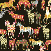 deer horse ikat party
