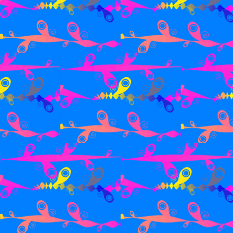 Neon Skies fabric by ravynscache on Spoonflower - custom fabric