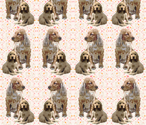 English cocker fabric fabric by dogdaze_ on Spoonflower - custom fabric