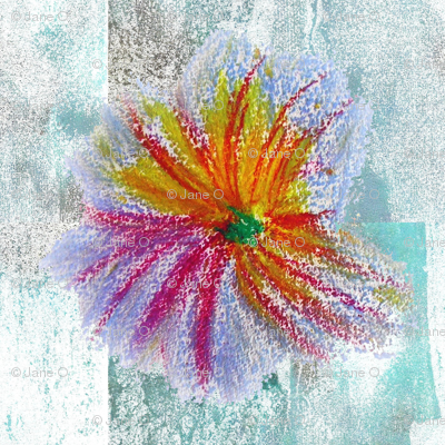 Flower_drawing_on_grungy_background_preview